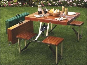 Advertisement Suit Case Picnic Table