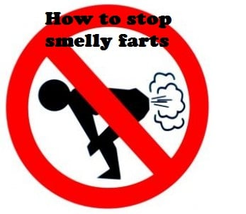 stop smelly fart sign