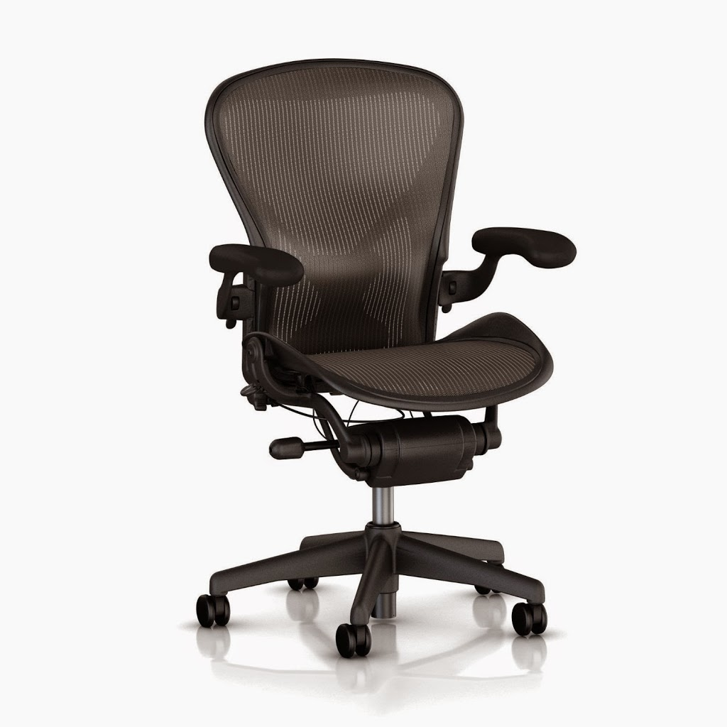 Mesh seat office chair for cool butt