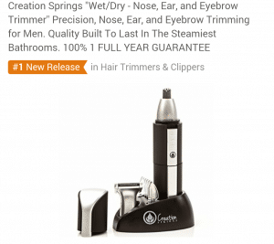 """Creation Springs """"Wet/Dry - Nose, Ear, and Eyebrow Trimmer"""