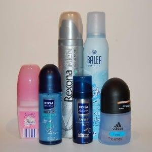 Deodorants, antiperspirants and antiperspirants